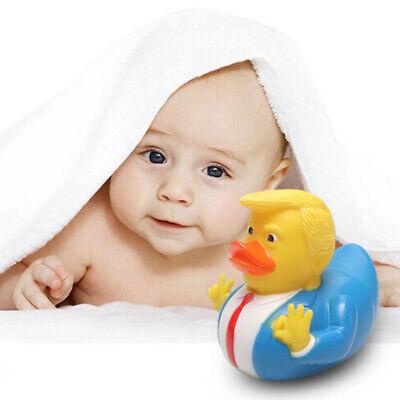 1 stück Donald Trump Ente Gummi PVC Ente Bad Quietschende Baby Kinder Tiere AB