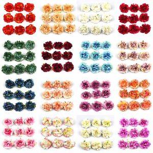 100x-Artificial-Silk-Rose-Peony-Flowers-Heads-Petals-Bouquets-Craft-Home-Decor