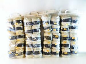 Strickwolle-40-x-50-g-100-Baumwolle-creme-meliert-3-Farben-4x-10er-Pk