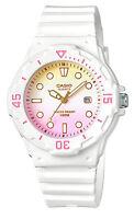 Casio LRW200H-4E2 Women's White Resin Band Sunburst Pink Dial Day Date Watch
