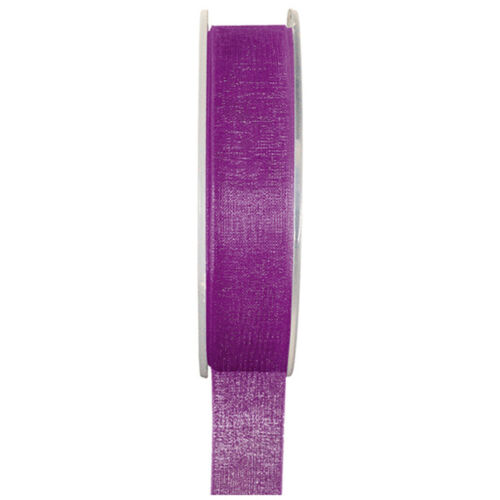 Organzaband 15mm x20m violett Schleifenband Hochzeit Chiffonband Geschenkband