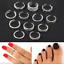 12PC Celebrity Jewelry Retro Silver Open Toe Ring Finger Foot