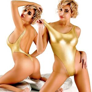 Sexy-Gold-One-Piece-Swimsuit-Thong-Monokini-Bathing-suit-High-Cut-Leg-Bodysuit
