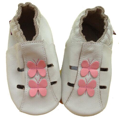 Bébé Chaussures En Cuir Lauflernschuhe KRABBELSCHUHE Pantoufles Cuir amener du NEUF