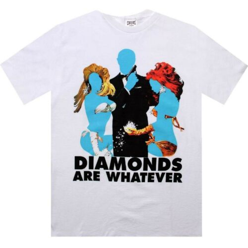 CCI1020710WHT white $49.99 Crooks and Castles Diamonds Are Whatever Tee
