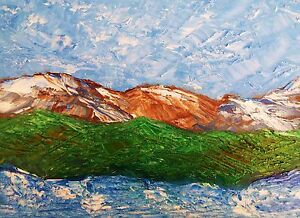MOUNTAIN-VALLEY-LAKE-Original-Landscape-Oil-Art-Painting-9-034-x12-034-Julia-Garcia-Art