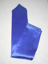 """NEW! X-Long ROYAL BLUE Satin FINGERLESS Nylon GLOVES ~ One Size ~ 18 1/2"""""""