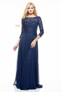 bb4cafaae7b MARSONI BY COLORS M223 MOTHER OF THE BRIDE DRESS NAVY BLUE size 14 ...
