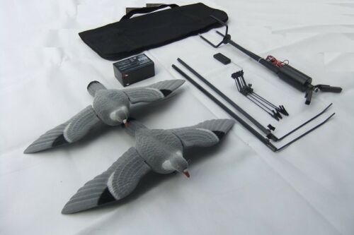 Pigeon Magnet Rotary HUNTING SET + Two Flocked Pigeon Decoys + 12v Battery!!