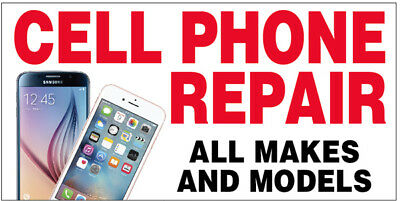20x48 Inch Cell Phone Repair All Makes Vinyl Banner Sign Wb Ebay