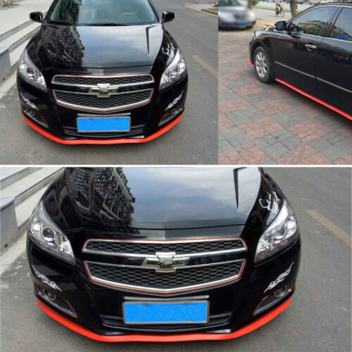 Universal Frontlippe Spoiler Schweller Stossstange Fahrzeug Auto Kfz Rot