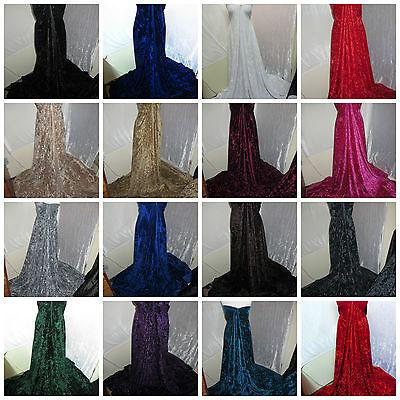 """1m new dress strechy ice crush velvet //velour fabric  58 /"""" wide"""