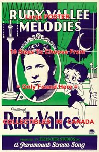 RUDY-VALLEE-MELODIES-1932-Cartoon-BETTY-BOOP-POSTER-10-Sizes-18-034-4-1-2-FEET