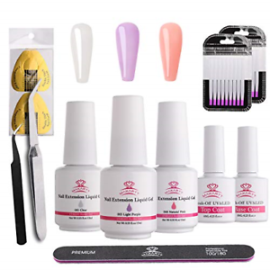 Makartt-Poly-Nail-Extension-Gel-Kit-Clear-Pink-Nail-Builder-Liquid-Gel-Set-Quick