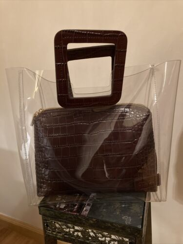 STAUD Shirley Leather-Trimmed Tote Bag