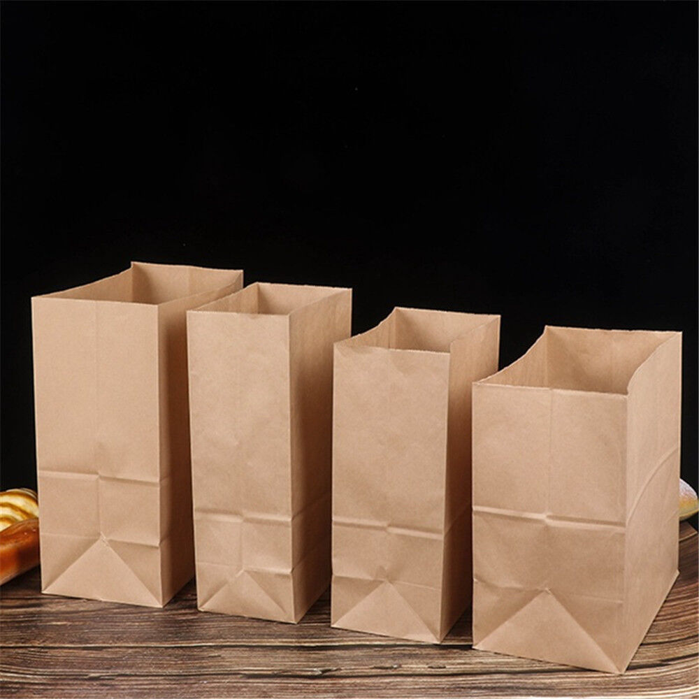 braun Kraft Paper Bags Gift Food Bread Candy Wedding Party Bags High Quality