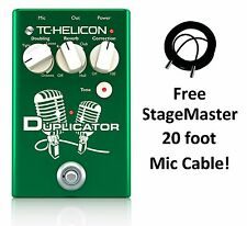 New TC-Helicon VoiceTone Duplicator Doubling/Reverb/Pitch Correction Vocal Pedal