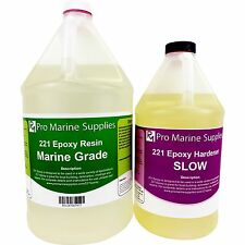 221 Epoxy Resin Kit - 1.5 Gallons (192 oz) Marine Grade Wood Fiberglass Laminate