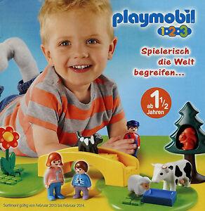 Prospekt-Playmobil-1-2-3-1-13-2013-Broschuere-20-S-Spielzeug-Spielwaren-Katalog