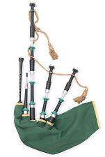 McCallum Irish Celtic themed highland bagpipes synthetic zip bag + chanter