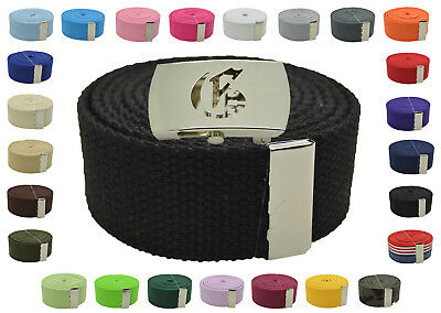 "Canvas Military New White /""Bandana Pattern/"" Web Belt /& Buckle 48/"",54/"",60/"",72/"""