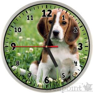 211 wanduhr f r kinder hund beagle. Black Bedroom Furniture Sets. Home Design Ideas