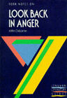 York Notes on John Osborne's  Look Back in Anger by Pearson Education Limited (Paperback, 1988)