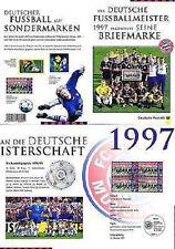 BRD 1997: FC Bayern München Fußballmeister Erinnerungsblatt! Vier Nr 1958! 1703