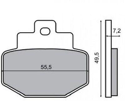 Aufrichtig Bremsbeläge Hinten Benelli Adiva 125 125 1999 > Rms 225100450 Auto & Motorrad: Teile