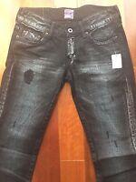 $550 NWT PRPS Designer Denim Womens Skinny Jeans Made in Japan 24, 25