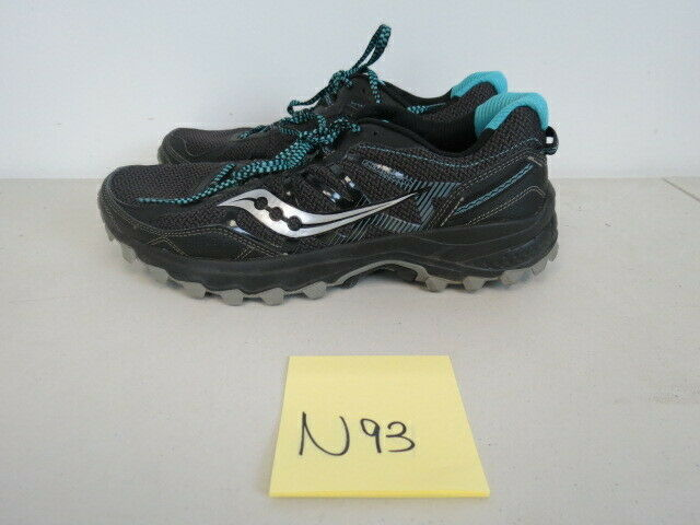 Womens Saucony Runanywhere Excursion TR Black Running shoes Size 9.5M N93