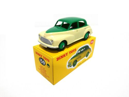 Morris Oxford Saloon Green Yellow DINKY TOYS 1:43 DIECAST MODELL AUTO CAR 159