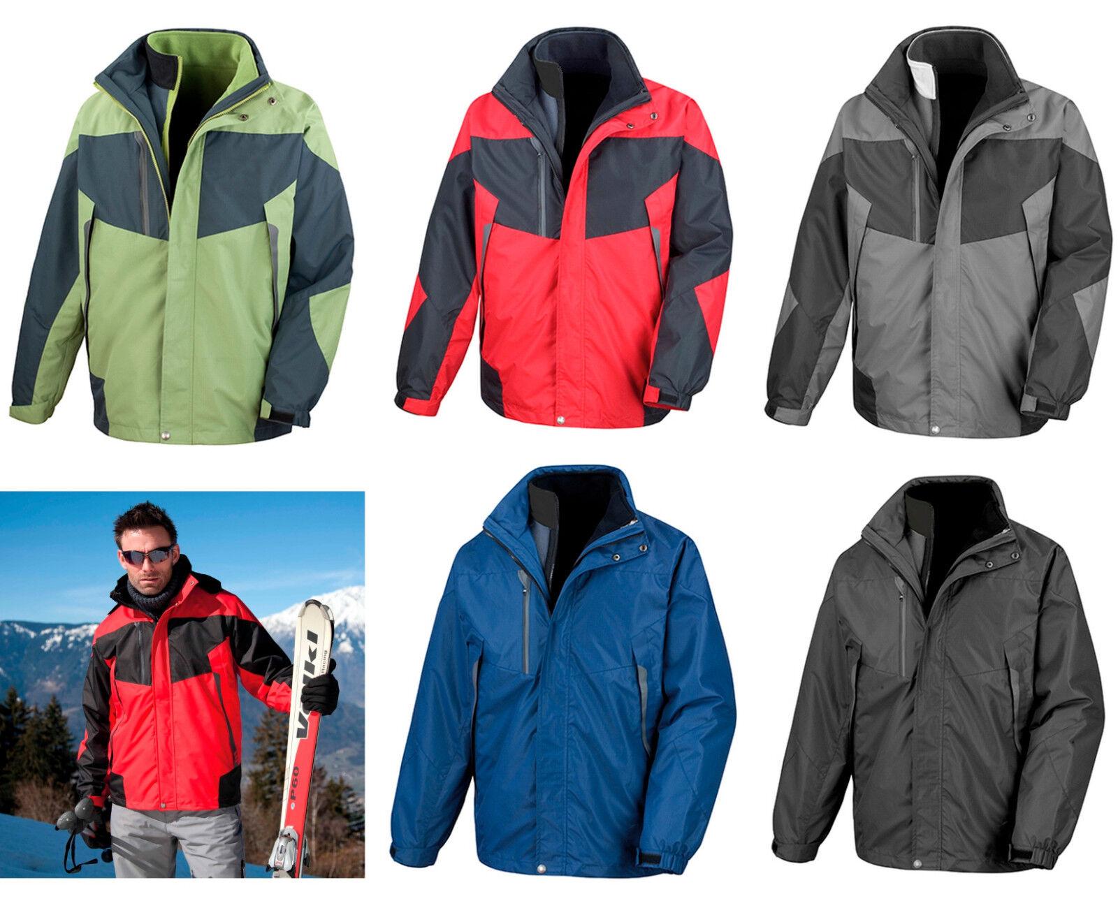 Result señoras y señores invierno chaqueta 3in1 Aspen doble chaqueta mtex vellón