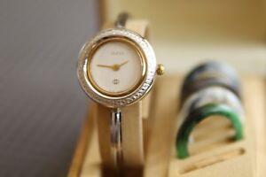 c42e82803216 Image is loading Authentic-Gucci-Watch-Ladies-Interchangeable-Bezels-1100L -11-