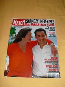 PARIS MATCH N°2879 Juillet 2004 Sarkozy Britney Spears Bill Clinton - France - État : Trs bon état: Livre qui ne semble pas neuf, ayant déj été lu, mais qui est toujours en excellent état. La couverture ne présente aucun dommage apparent. Pour les couvertures rigides, la jaquette (si applicable) est incluse. Aucune p - France