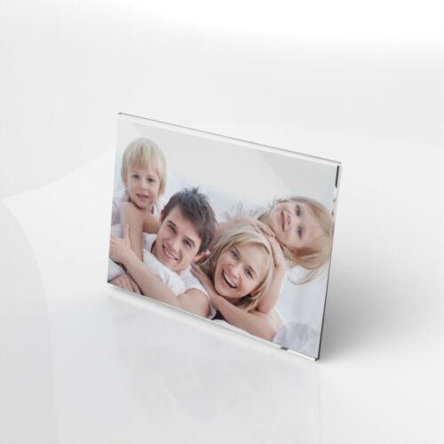 Acrylique Cadre Photo//Clair Cadre photo//image Holder//Photo Display Stand