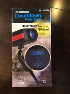 Until Christmas 99 Days Till Christmas.Details About 99 Day Countdown To Christmas Blue Lightshow Led Projection Brand New In Box