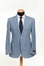 BELVEST Made in Italy Jacket 2Btn Wool Linen Cotton Light Blue 46 US 56 EU 7 R