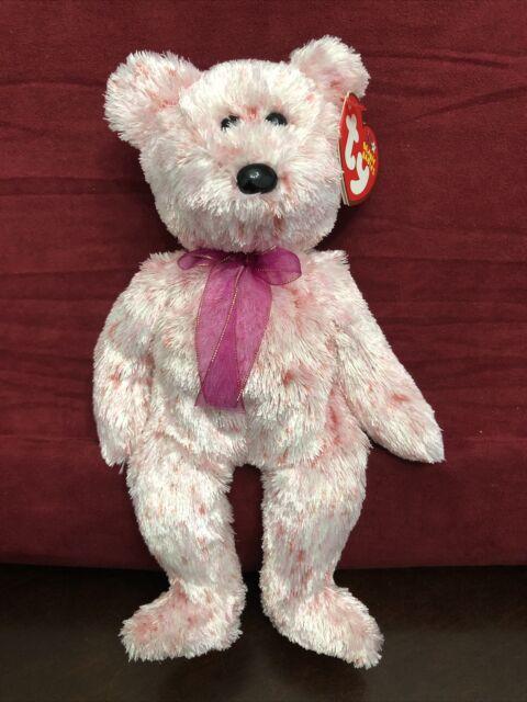 Ty Beanie Baby Smitten Bear Baby Pink 2002 Vintage USA SELLER