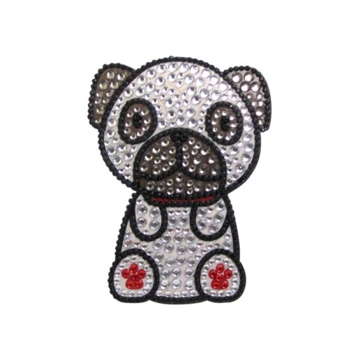 Pug Rhinestone Decal Sticker