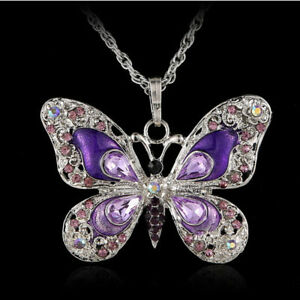 Opal-Bijoux-New-Pendant-Gift-Long-Newly-Jewelry-Butterfly-Necklace-Fashion
