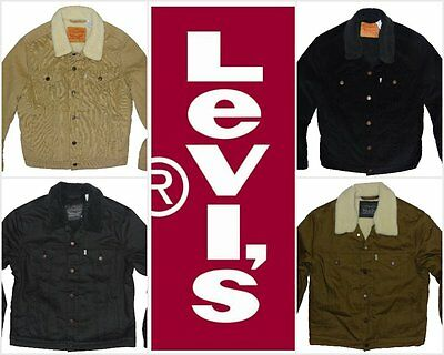 NEW LEVI'S MEN'S RELAXED FIT SHERPA TRUCKER JACKETS ALL SIZES ALL COLORS NWT