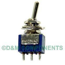 Miniature Toggle Switch SPDT ON-OFF-ON Single 3A 250V - 6A 125V