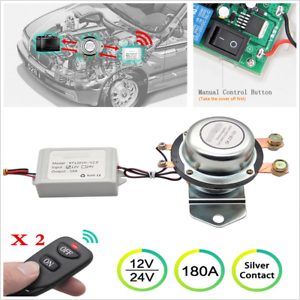 12V 180A Car Remote Control Battery Switch Wireless