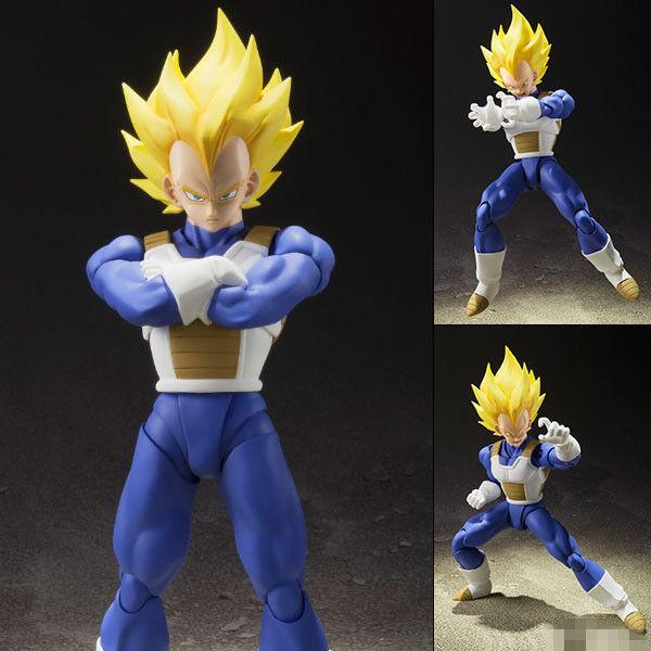Bandai Dragon Ball Z S.H. Figuarts Super Saiyan Vegeta PVC Figurine