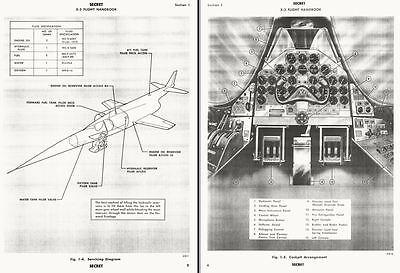 Douglas X-3 Stiletto X-plane research prototype exp manual & report RARE 1955