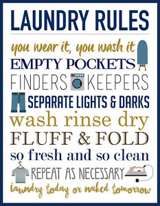 Laundry Rules METAL SIGN- 2 Sizes Available ideal for Kitchen- Man Cave LVjk8s5D-09114225-451125962