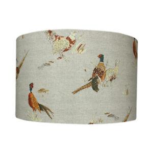 Pheasant-Country-Drum-Lampshade-20cm-30cm-40cm-Lightshade-Lamp-Shade