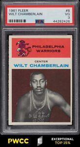 1961 Fleer Basketball Wilt Chamberlain ROOKIE RC #8 PSA 3 VG