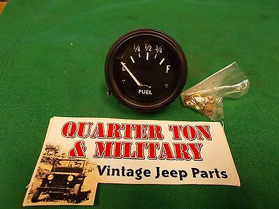 Jeep Willys MB GPW CJ2A CJ3A Amp or Amperes gauge new 6//12 volt
